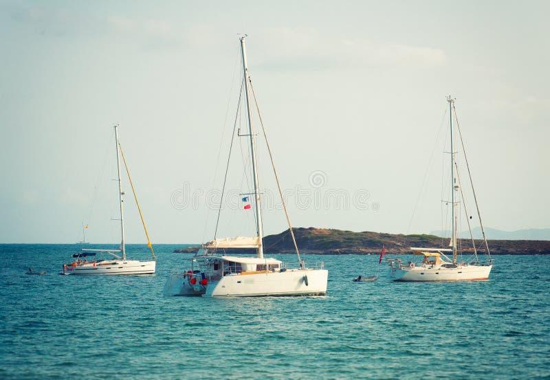 yachts fotografie stock