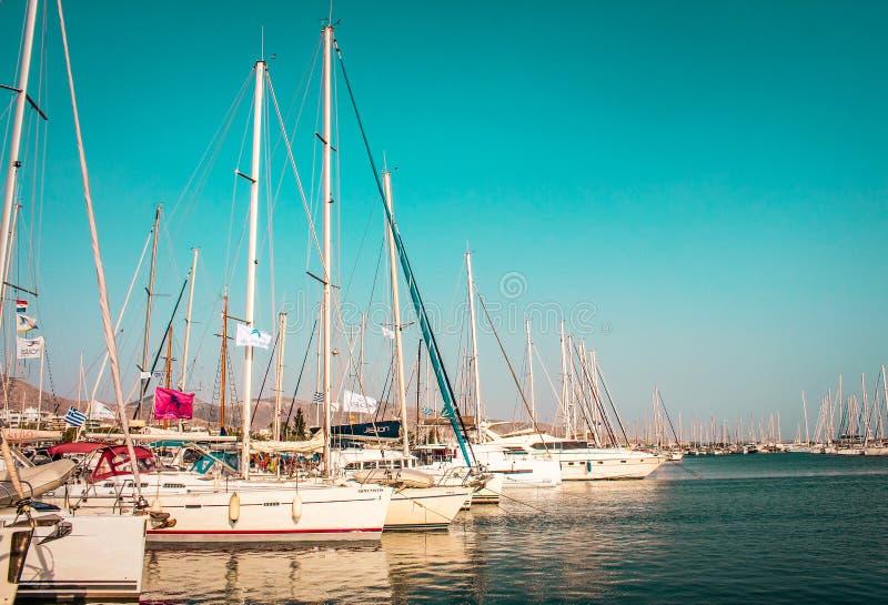 yachts immagini stock