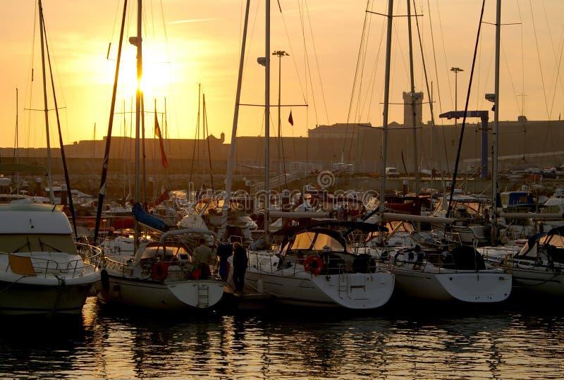 Yachts accouplés photos libres de droits