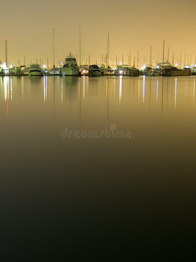 Free Yachts At Night 1 Royalty Free Stock Image - 3496986