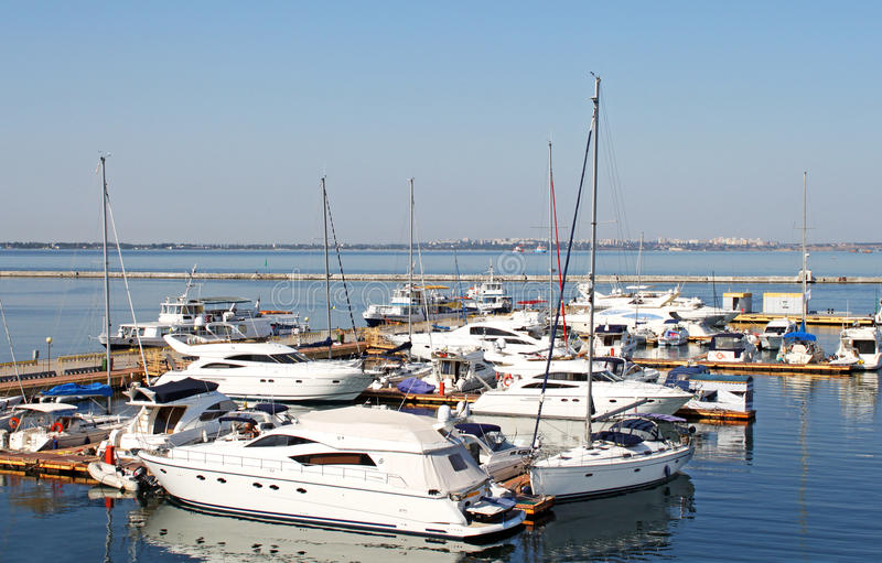 Yachts on the berth royalty free stock images