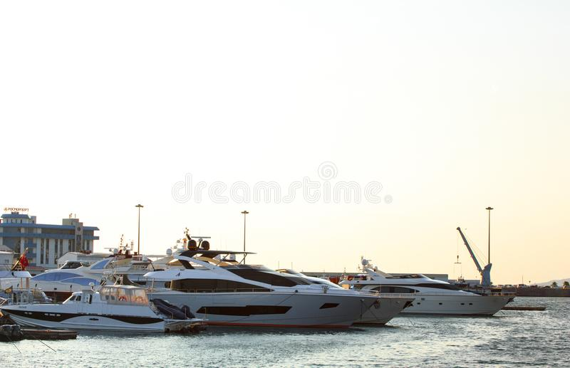 Yachts On Body Of Water royalty free stock images