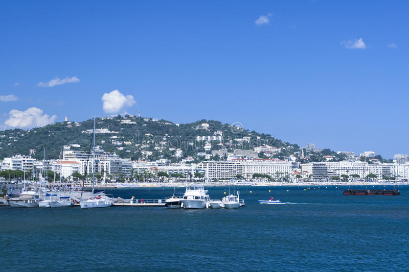 Yachts in Cannes Port Pierre Canto royalty free stock photography