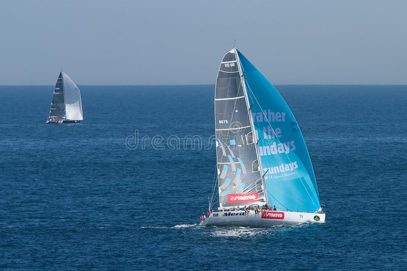 Yachts Competing In The Rolex Sydney To Hobart Rac Editorial Image