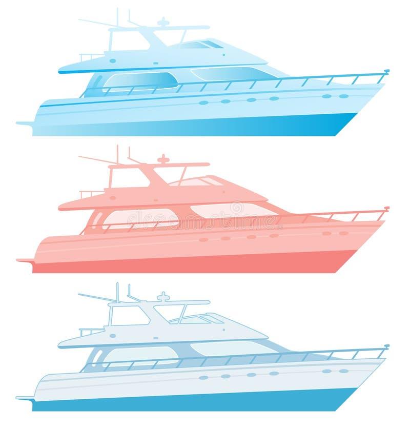yachts de luxe de moteur illustration de vecteur