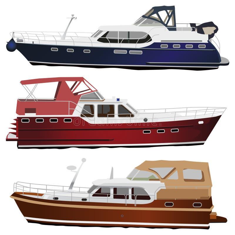 Yachts de moteur illustration libre de droits