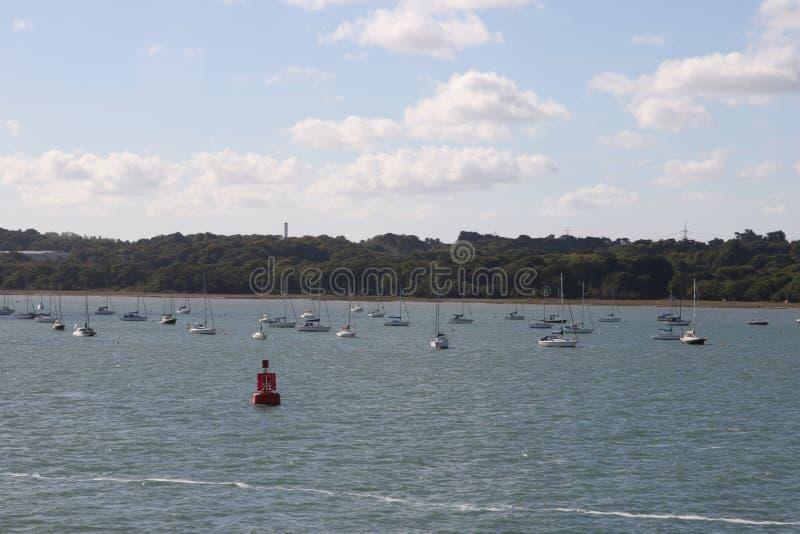 Yachts de points de repère de voyage photographie stock libre de droits
