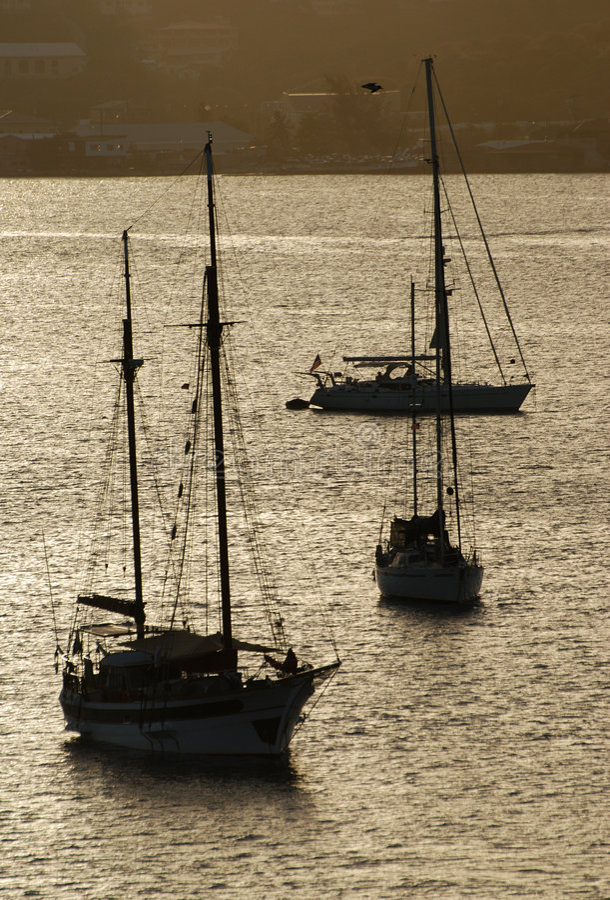 Yachts de St.Thomas images libres de droits