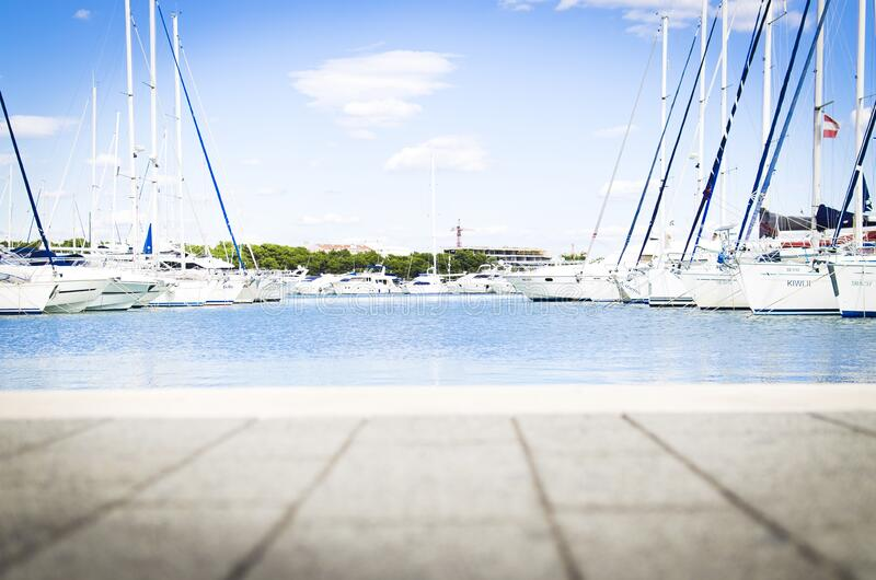 Yachts at dock royalty free stock image