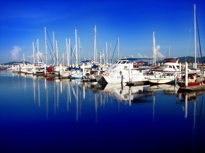 Download Yachts docked stock image. Image of marina, clear, boating - 4963869