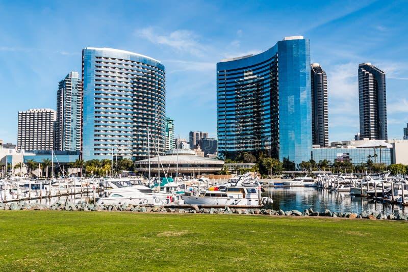 Yachts Docked at Embarcadero Marina Park North royalty free stock photography
