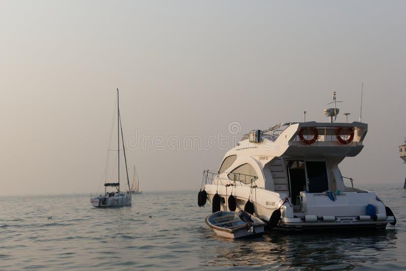 Yachts docked at Gateway of India - Mumbai royalty free stock photos