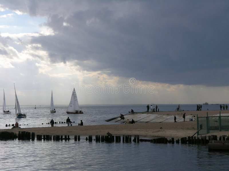 Yachts in the Gulf of Finland royalty free stock images