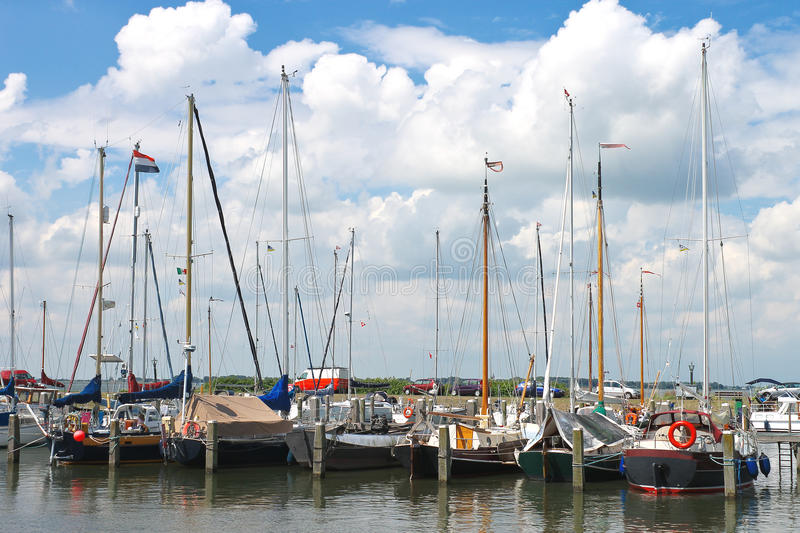 Download Yachts In  Harbor Of The Island Marken. Stock Photo - Image: 26106332