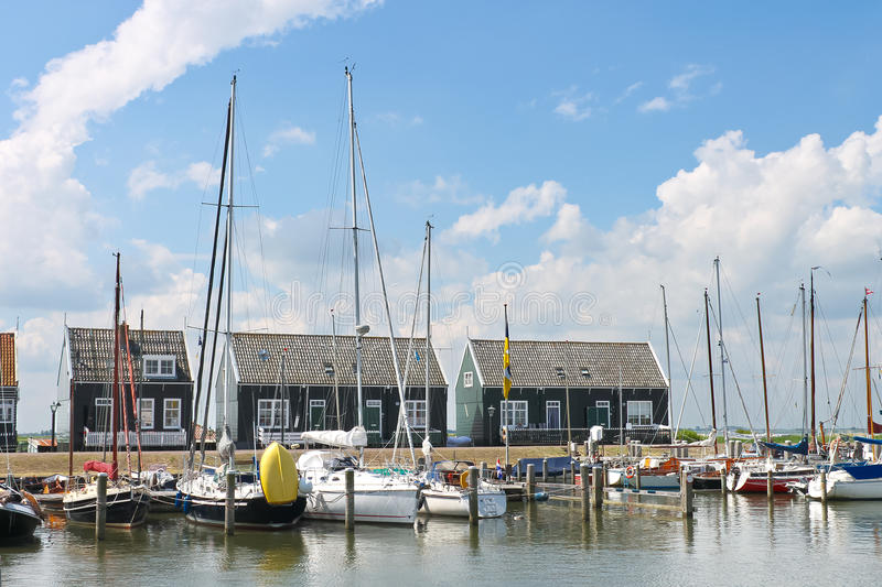 Download Yachts In  Harbor Of The Island Marken. Stock Image - Image: 26106335