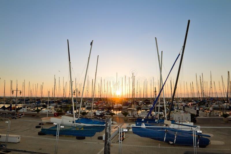 Yachts in the harbor of Tel Aviv