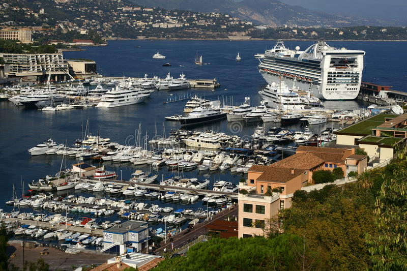 Yachts harbour in Monaco royalty free stock photo