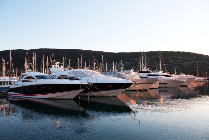 Yachts at marina royalty free stock images