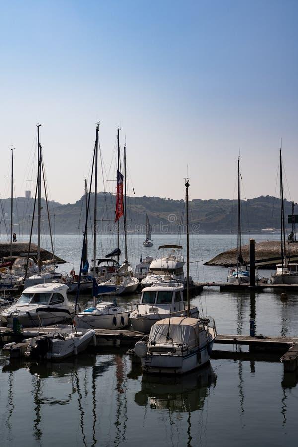 Yachts at marina in Belem royalty free stock images