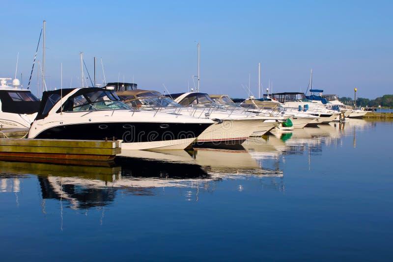Yachts at marina royalty free stock photo