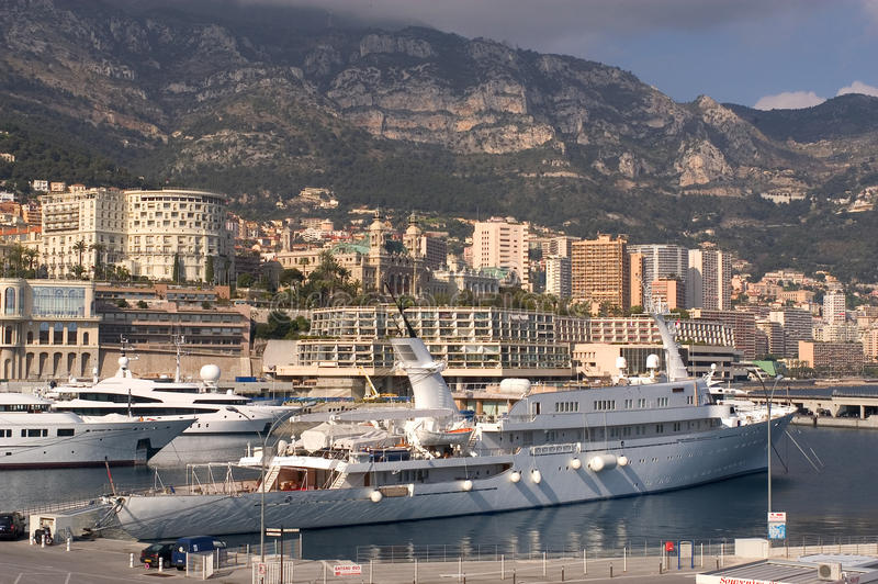 Download Yachts in Monaco Harbour stock image. Image of luxury - 23345707