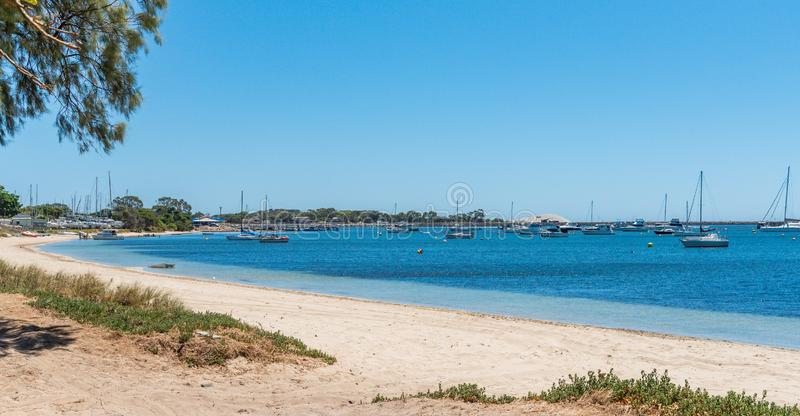 Yachts moored at Mangles Bay Rockingham Australia royalty free stock photography