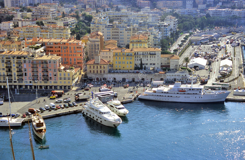 Download Yachts in Nice Harbour stock image. Image of cityscape - 1100199