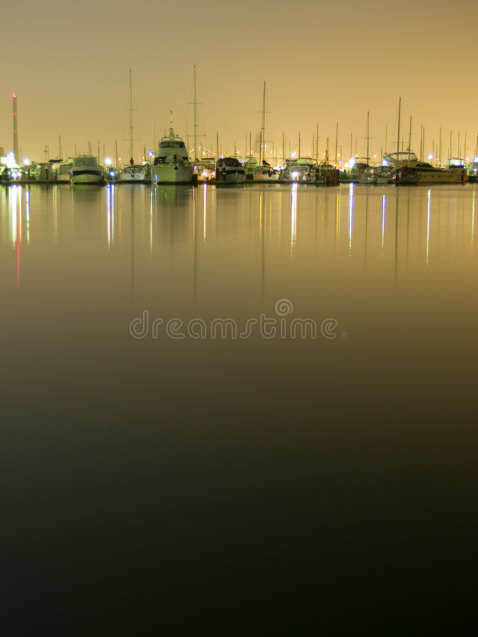 Download Yachts at night 1 stock photo. Image of horbour, deck - 3496986