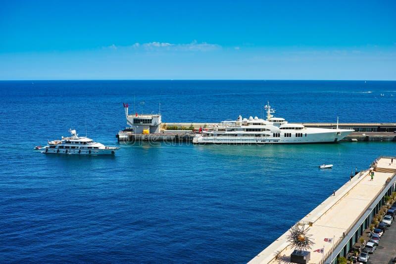 Yachts in Port of Monaco stock image