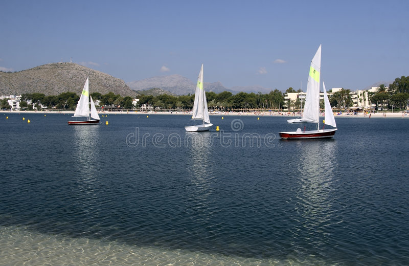 Yachts sailing royalty free stock photography