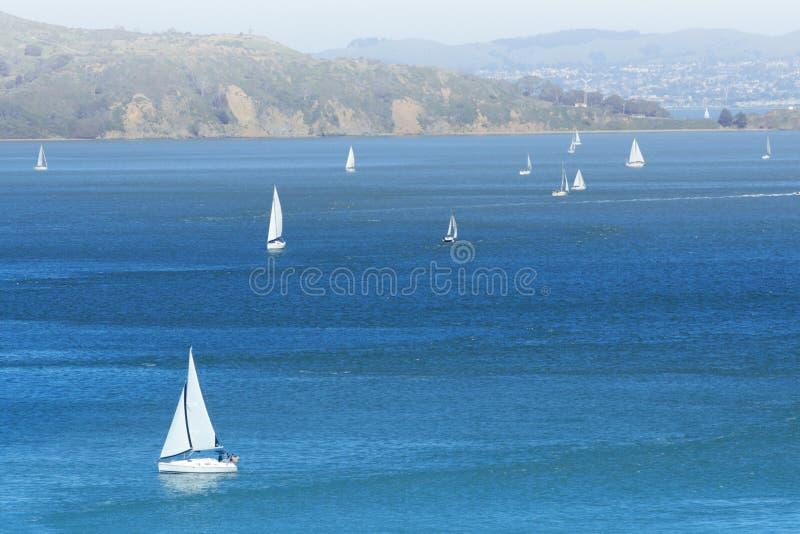 Yachts in San Francisco bay. California, USA royalty free stock photos