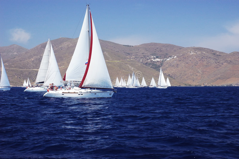 Download Yachts in the sea stock image. Image of group, water, boat - 7920937