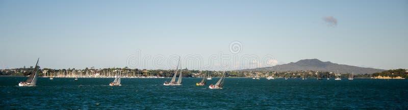 Yachts sur le port de Waitemata, Auckland Nouvelle-Zélande photo libre de droits