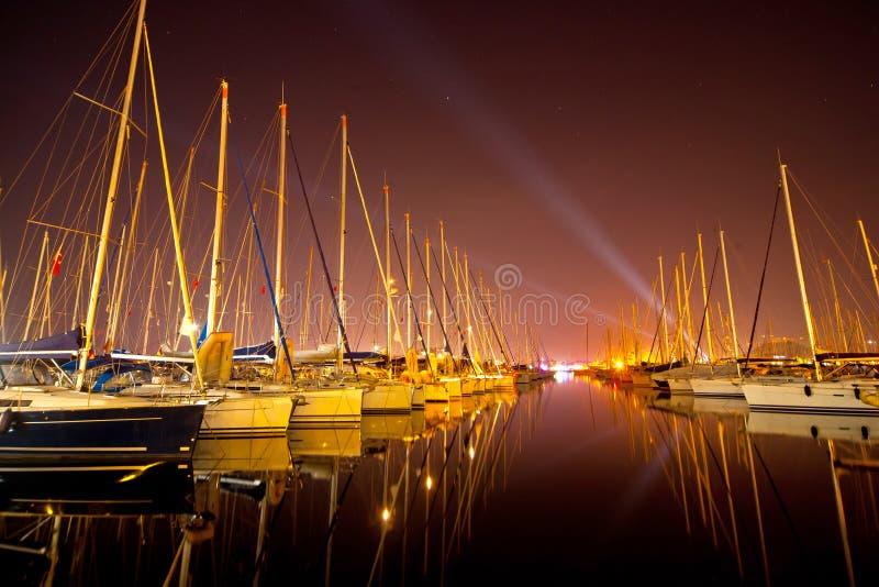 Yachts at a wharf royalty free stock images