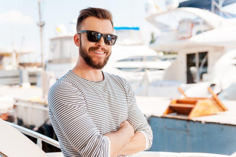 'yachtsman' seguro foto de stock