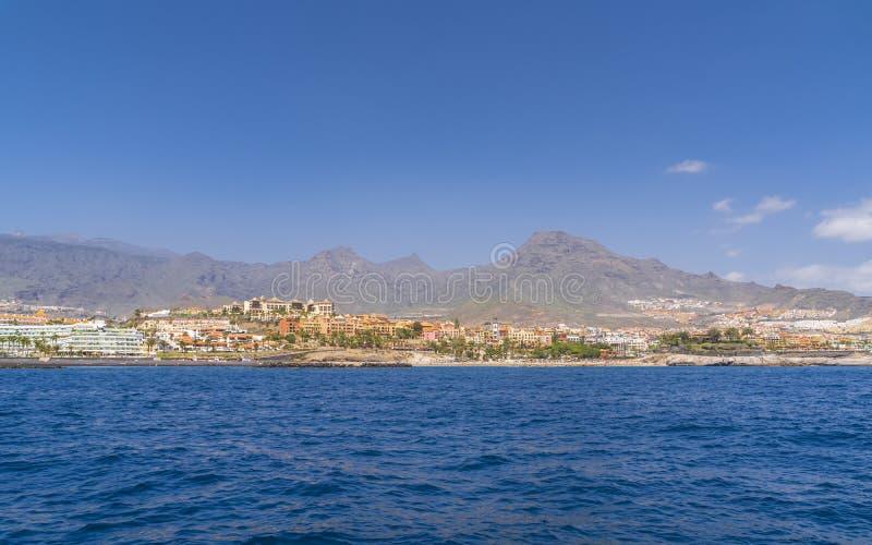 Yachttur längs Tenerife royaltyfri fotografi