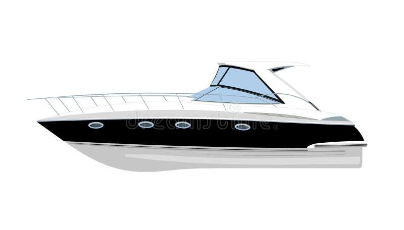 Yachtvektorillustration stock illustrationer