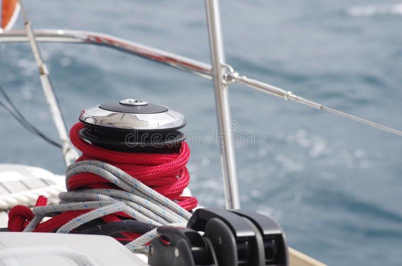 Yachtvinsch arkivbild