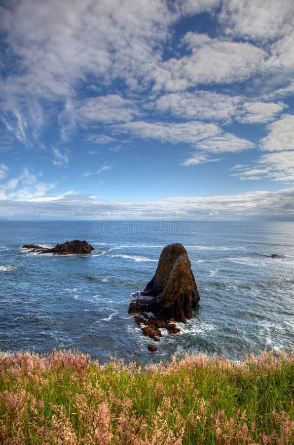 Yacquina Bay rocks stock images