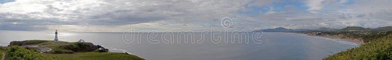 Yacquina Lighthouse panorama royalty free stock image