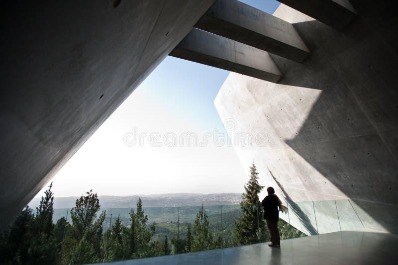 yad vashem музея холокоста мемориальное стоковая фотография rf