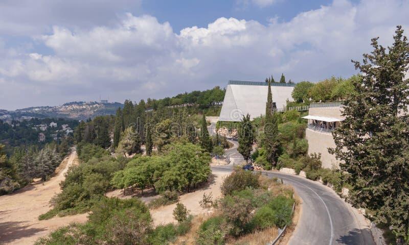 Yad Vashem het Holocaust Herdenkingsmuseum in Jeruzalem stock afbeelding