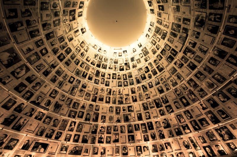 Yad Vashem - het Museum van de Holocaustgeschiedenis in Jeruzalem Israël stock foto