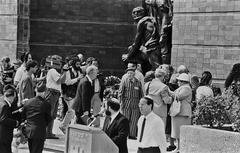 Yad Vashem Observance on Holocaust Memorial Day in Jerusalem stock photography