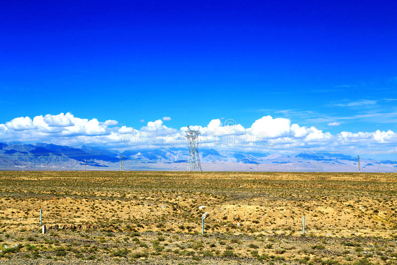 The Yadan landforms and Desert scenery in Tibetan Plateau royalty free stock images