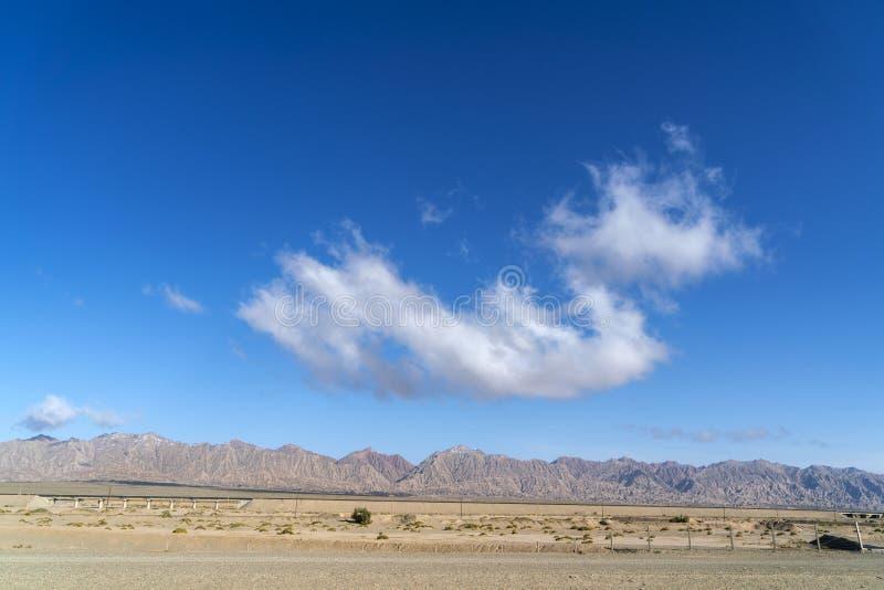 Yadan landforms and Desert scenery stock image