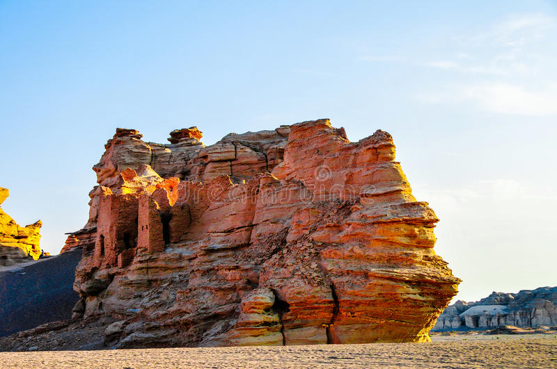 Yadan Landforms - The devil city in xinjiang stock images