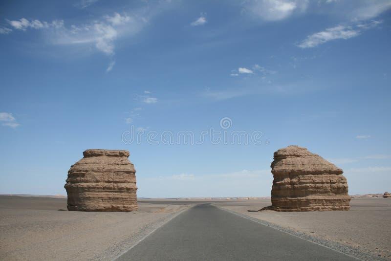 Yadan landforms Dunhuang china royalty free stock photos
