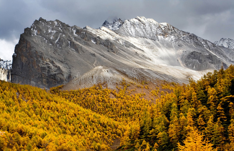 Download Yading fall stock photo. Image of jokul, describe, altiplano - 5336900