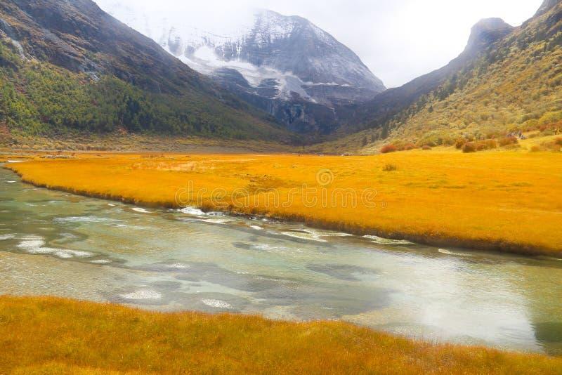 Yading-Naturschutzgebiet in China stockfotografie